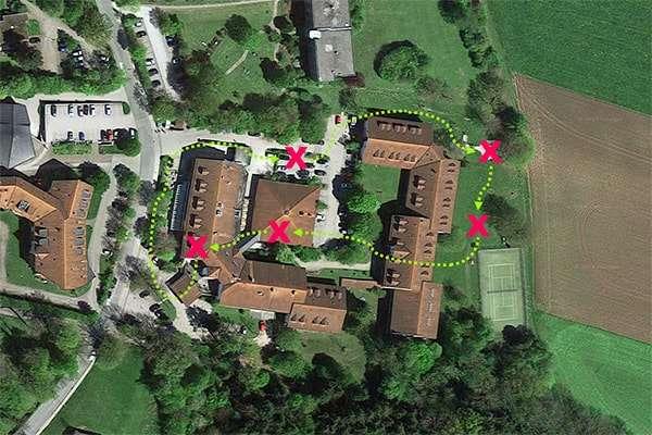 Sinnbildliche Darstellung der Team-Challenge beim Hotel St. Georg beim Chiemsee