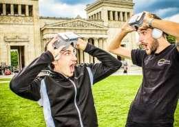 Virtual Reality in der Münchner Innenstadt